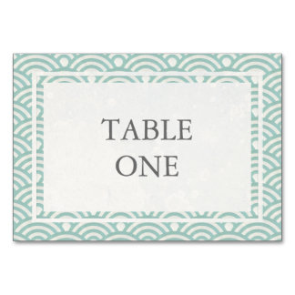 Japanese Seigha Stylized Waves Table Number Table Cards