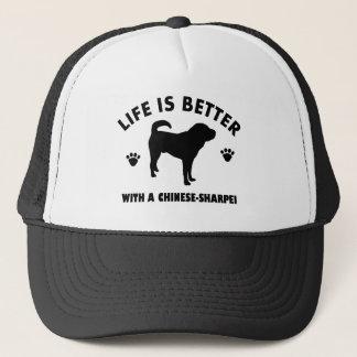 Japanese shar pei dog trucker hat