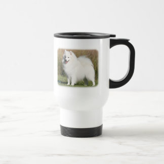 Japanese Spitz 9Y576D-261 Stainless Steel Travel Mug