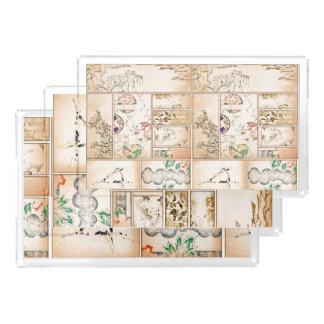 Japanese Tapestry Asian Collage tsuzure nishiki Acrylic Tray