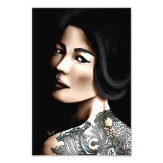 Japanese tattooed woman photographic print