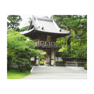 Japanese Tea Garden in San Francisco Stretched Canvas Print