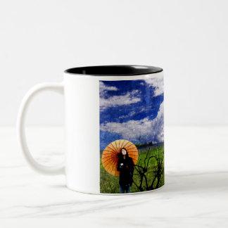 japanese theme Two-Tone coffee mug