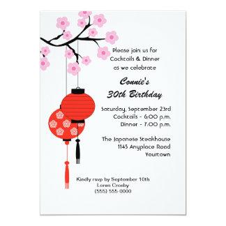 Japanese Themed Birthday Invitation