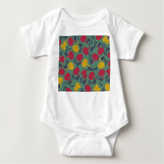 Japanese traditional pattern - UCHIWA Baby Bodysuit