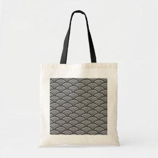 Japanese Wave Pattern Tote Bag