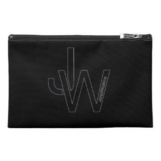JaredWatkins black logo travel accessory bag