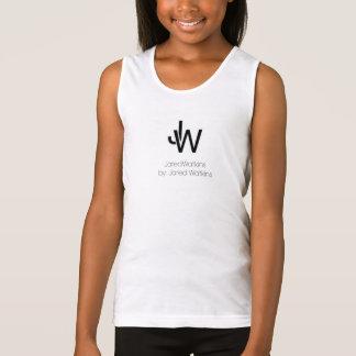 JaredWatkins kid's white logo tank top