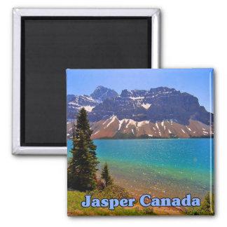 Jasper Alberta Canada Square Magnet