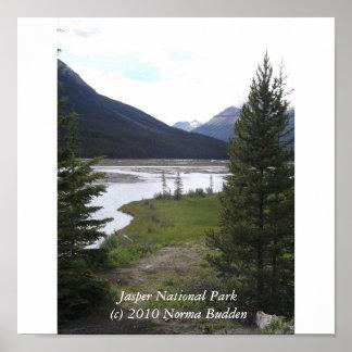Jasper National Park Poster by Norma Budden