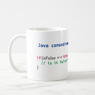 Java isFalse conundrum mug
