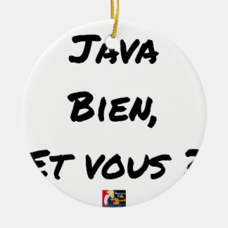 JAVA WELL, AND YOU? - Word games Christmas Ornament