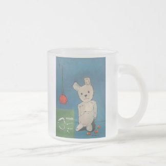 Jaws Or Flowers Frosted Glass Mug