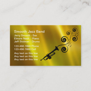 jazz band business cards - Band Business Cards