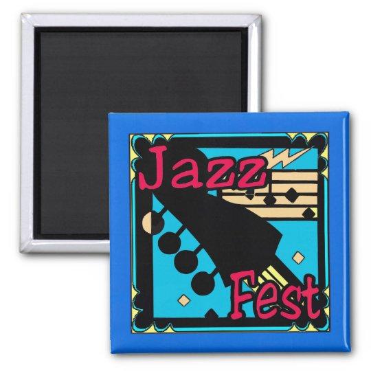 Jazz Fest Guitar in Blue Magnet