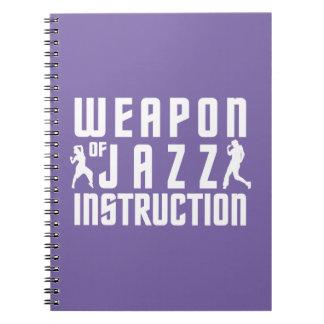 Jazz Instruction custom color notebook