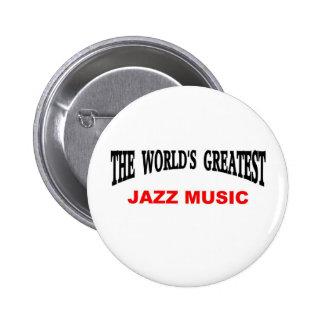 Jazz music 6 cm round badge