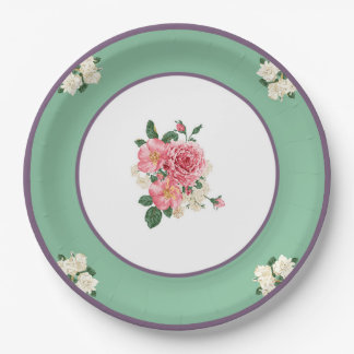 JazzKat's Retro Paper Plates #2F Mint Purple