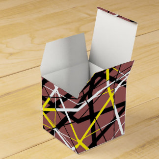 JAZZY LINES brown Wedding Favour Box
