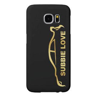 JDM Subby Love (Subaru WRX STI) Gold SIlhouette Samsung Galaxy S6 Cases