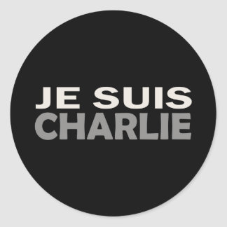Je Suis Charlie Classic Round Sticker