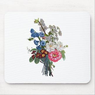 Jean Louis Prevost Mixed Flower Bouquet Mouse Pad