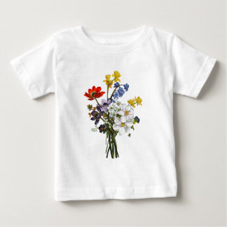 Jean Louis Prevost Narcissus and Buttercup Bouquet Baby T-Shirt