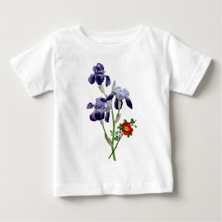 Jean Louis Prevost Purple Iris Bouquet Baby T-Shirt