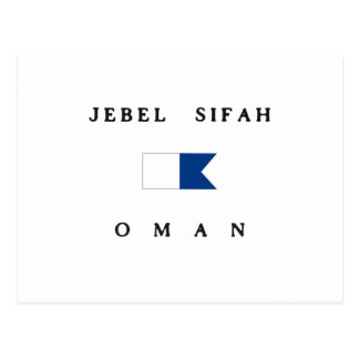 Jebel Sifah Oman Alpha Dive Flag Postcard