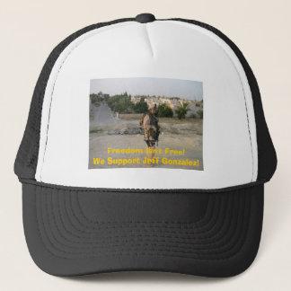 jeff4, Freedom Isn't Free!We Support Jeff Gonza... Trucker Hat