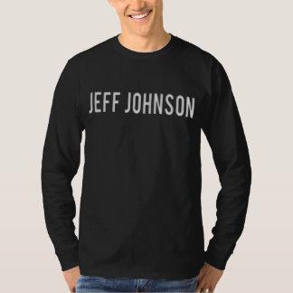 Jeff Johnson Tee White on Black