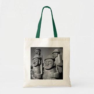 Jeju Stone Grandfather Statues Harubang BW Bags