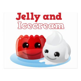 Jelly and icecream postcard