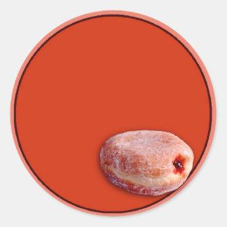 Jelly Filled Donut Round Sticker
