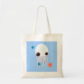 jelly fish hot summer tote bag