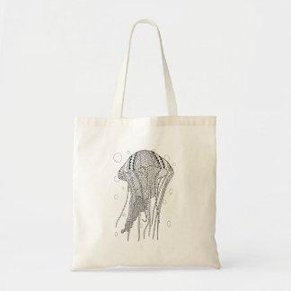 Jellyfish Adult Coloring Tote Bag