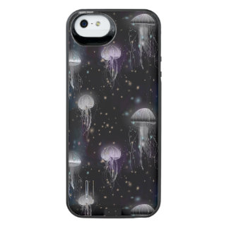 Jellyfish By Night iPhone SE/5/5s Battery Case