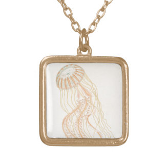 Jellyfish Gold Plated Necklace