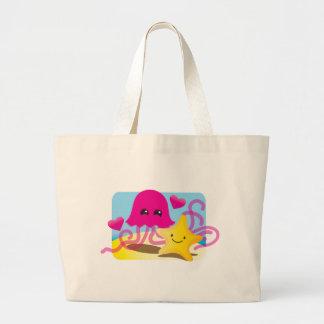 Jellyfish Love Large Tote Bag