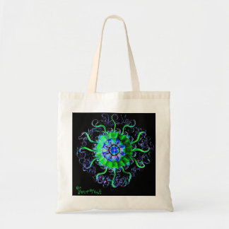 Jellyfish Mandala Add Your Text Yoga Gift Tote Bag