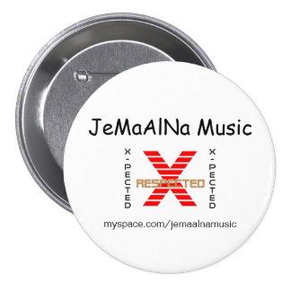 JeMaAlNa Music Pin/Button 7.5 Cm Round Badge