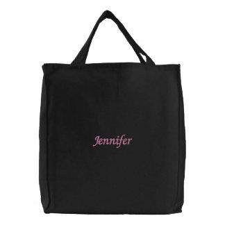 Jennifer Embroidered Tote Bag