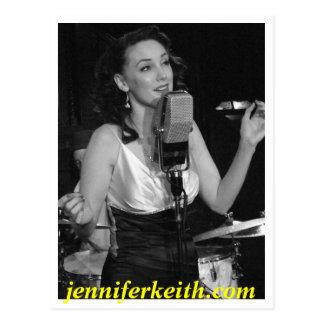 Jennifer Keith Singing Black and White, jennife... Postcard