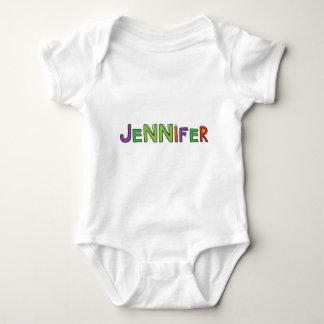 """""""Jennifer"""" Monster Letters Baby Bodysuit"""