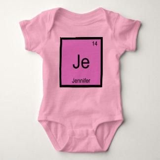 Jennifer  Name Chemistry Element Periodic Table Baby Bodysuit