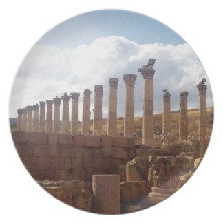Jerash Roman Columns Dinner Plates