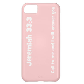 Jeremiah 33:3, Customizable Background Color iPhone 5C Case