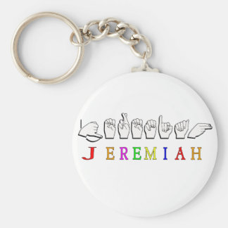 JEREMIAH FINGERSPELLED NAME SIGN KEY CHAINS