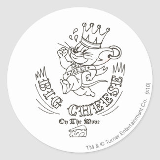 Jerry Big Cheese On The Moon 1 Classic Round Sticker