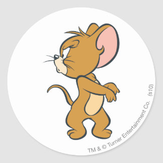Jerry Looking Back Annoyed Classic Round Sticker